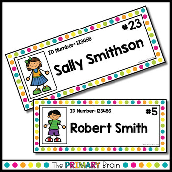 Black and Brights EDITABLE Student Name Tags