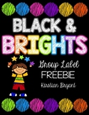 Black and Brights Group Label Freebie