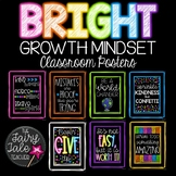 Black and Brights Growth Mindset Posters, Motivational Posters