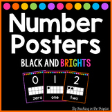 Black and Brights Number Posters 0-20 (Manuscript)