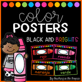 Black and Brights Spanish Color Posters (D'Nealian)