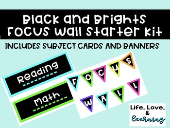 Black and Brights Themed Focus Wall Starter Kit