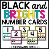 Black and Brights Number Card Posters from 1-20