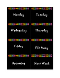 Black and Brights Week Labels