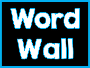 Black and Brights Word Wall Labels - Editable