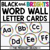 Word Wall Letters | Black and Brights Word Wall Letter Cards