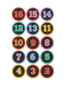 Black and Colorful Number Circle Labels