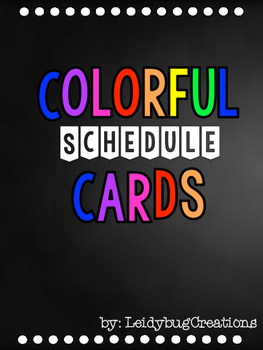 Black and Colorful Schedule Cards