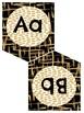 Black and Gold Alphabet Banner