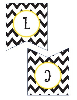 Black and Gold Anchors Away Welcome Banner and Schedule Headings