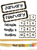 Black and Gold Calendar Months and Numbers