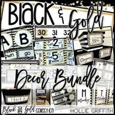 Black and Gold Classroom Decor BUNDLE