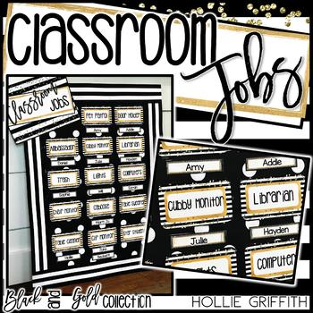 Black and Gold Classroom Jobs
