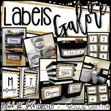Black and Gold Editable Labels {Library Labels, Supply Lab