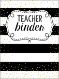 Black and Gold Editable Teacher Survival Binder