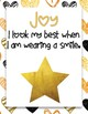 Black and Gold Fruit of the Spirit Classroom Rules Posters *FREEBIE!*