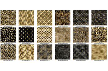 Black and Gold Glam Digital Paper
