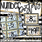 Black and Gold Number Sense Posters