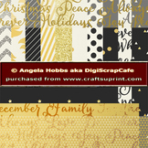 Black and Gold Paper Set