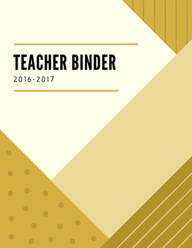 Black and Gold Teacher Binder with Modern Design
