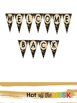 Black and Gold Welcome Back Banner