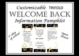 Black and Gold Welcome Back Pamphlet for Parents at Open House