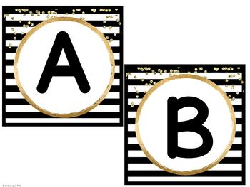 Black and Gold Word Wall {Editable}