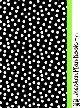 Black and Green 2017-2018 Teacher Planner