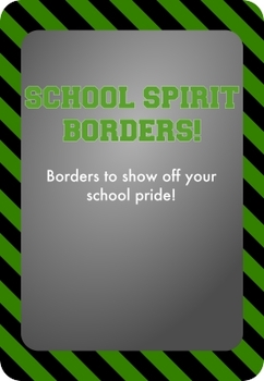 Black and Green - School Spirit Borders 9 Pack