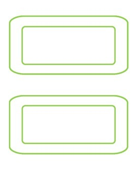 Black and Green room labels