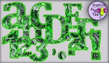 Black and Lime Hurricane Letters and Numbers