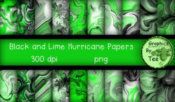 Black and Lime Hurricane Papers
