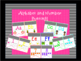 Black and Neon Alphabet and Number Bunting
