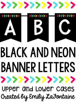 Black and Neon Banner Letters