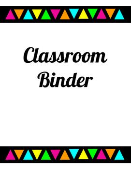 Black and Neon Classroom Binder Organization