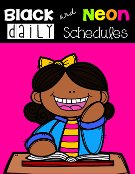Black and Neon Daily Schedule