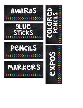 Black and Neon Editable Supply Labels