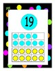 Black and Neon Polka Dots NUMBER POSTERS
