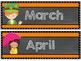 Black and Orange Chalkboard Calendar Set
