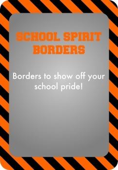 Black and Orange - School Spirit Borders 4 Pack