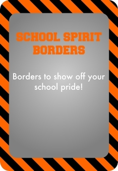 Black and Orange - School Spirit Borders 9 Pack