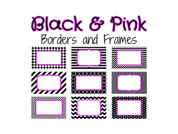 Black and Pink Borders and Frames