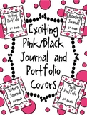 Black and Pink Dot Journal Cover Bundle