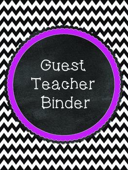 Black and Pink Guest Teacher Binder