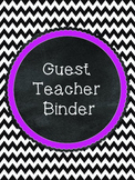Black and Pink Guest Teacher Binder