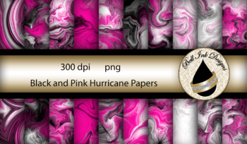 Black and Pink Hurricane Papers Clipart