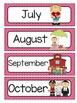 Black and Pink Quatrefoil Calendar Set