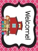 Black and Pink Quatrefoil Welcome Banners
