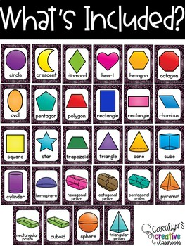 Black and Pink Shape Posters - Pink Polka Dots Classroom Decor