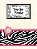 Black and Pink Zebra Design Printables for binders, power
